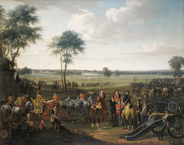 Royal Artillery in the Low Countries, 1748