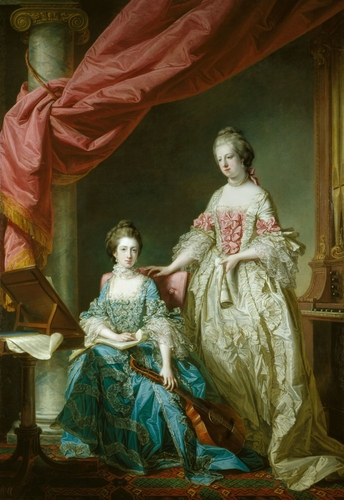 Princess Louisa (1749-68) and Princess Caroline (1751-75)