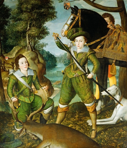 Henry, Prince of Wales (1594-1612) with Robert Devereux, third Earl of Essex (1591-1646) in the Hunting Field