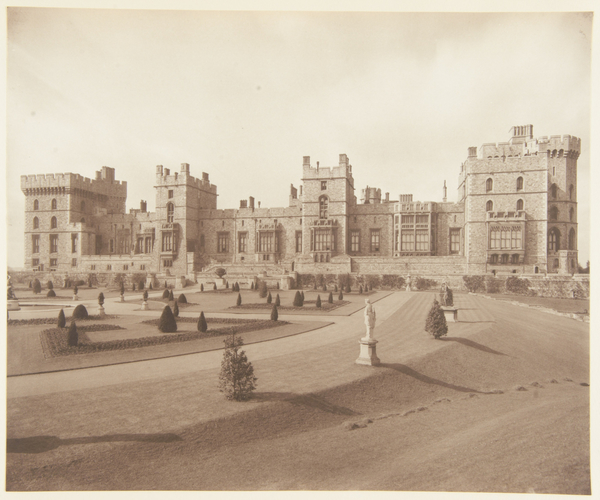 The East Front and East Terrace Garden, Windsor Castle