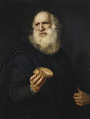 A Bearded Old Man with a Shell