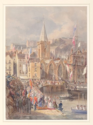 Queen Victoria and Prince Albert landing at St Pierre, Guernsey