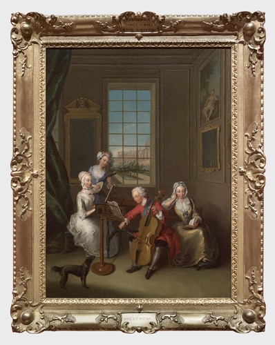 Frame for RCIN 402414, Mecier, 'The Music Party'