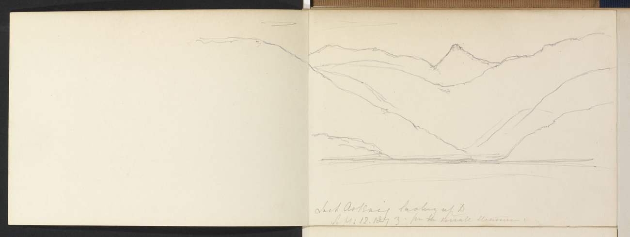 Master: SKETCHES BY QUEEN VICTORIA II Item: Ben Nevis from the Caledonian Canal & Loch Arkaig