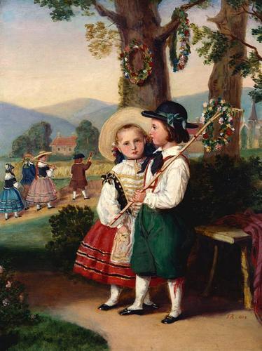 A Scene from 'Der Hahnenschlag'