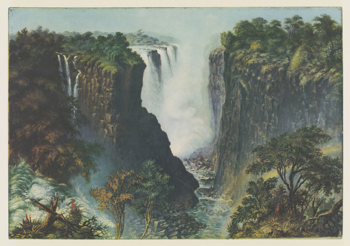 Master: Thomas Baines: his art in Rhodesia Item: Thomas Baines, his art in Rhodesia. Plate II: The falls from the west