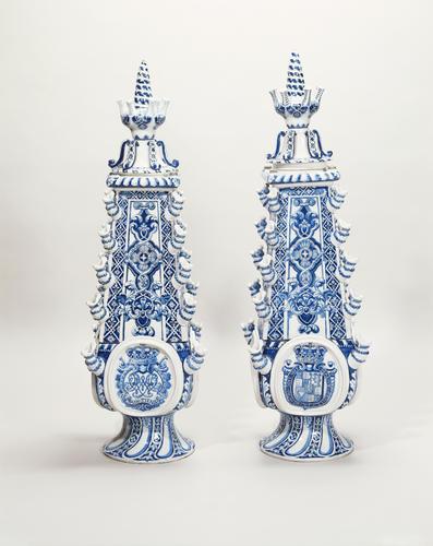 Master: Pair of tulip vases