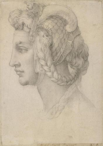 An imaginary female head