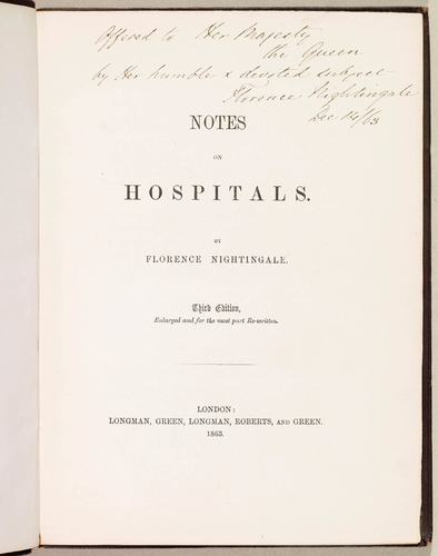 Notes on hospitals / by Florence Nightingale