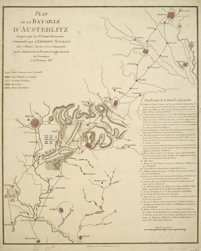 Plan de la Bataille d'Austerlitz