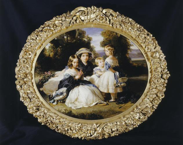 Frame for RCIN 406962, Winterhlater, Victoria, Princess Royal, Princess Alice, Princess Helena, and Princess Louise