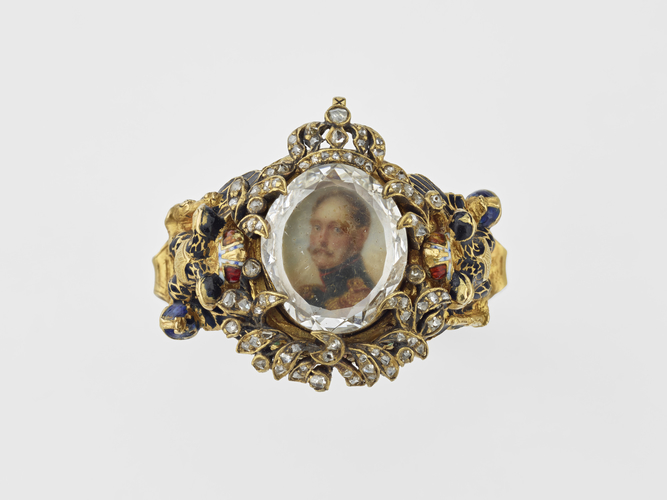 Ring with a miniature of Nicholas I, Emperor of Russia (1796-1855)