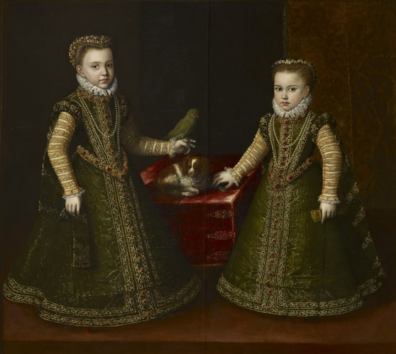 Infanta Isabella Clara Eugenia (1566-1633) and Infanta Catalina Michaela (1567-97): daughters of Philip II of Spain (c. 1527-98)