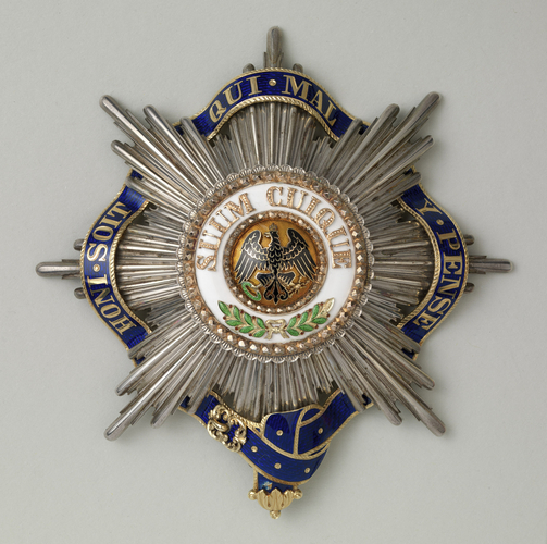 Order of the Black Eagle (Prussia). George V's star with garter