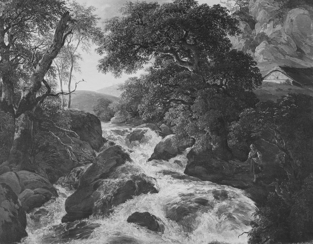 Waterfall in a Landscape