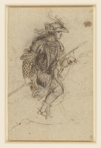 A masquerader on horseback