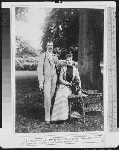 Princess Marie Louise of Schleswig-Holstein and Prince Aribert of Anhalt, 1891