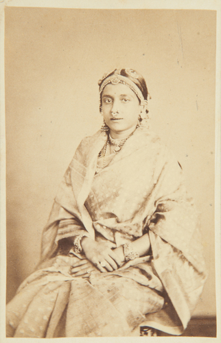 Lady Napier's visit to Travancore, 1868. Ammachee, wife of His Highness the Maharaja of Travancore