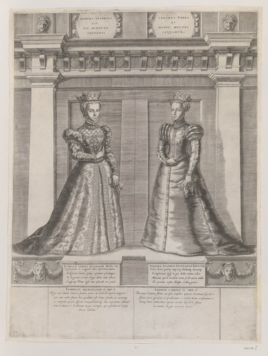 Master: [Engravings of early French rulers from Clovis I, King of the Franks to Sigebert I, King of Austrasia, and Elisabeth of Austria, Queen of France with Joanna of Austria, Princess of Portugal]