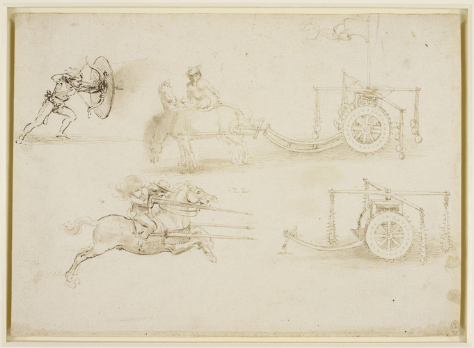 Designs for chariots and weapons