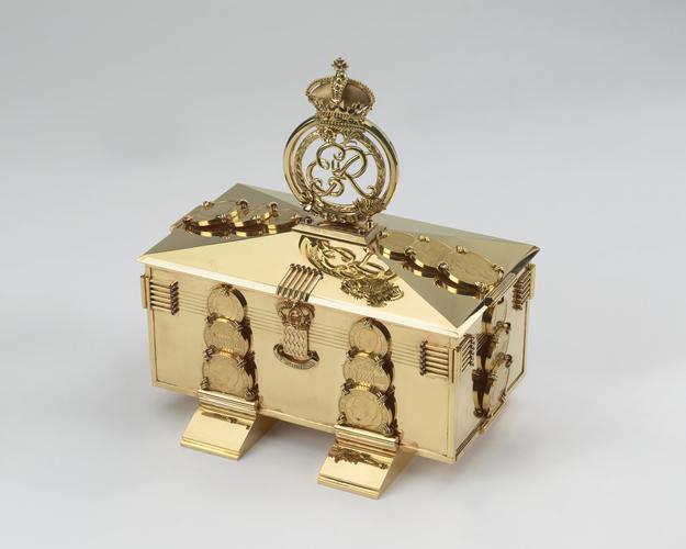 Gold presentation casket