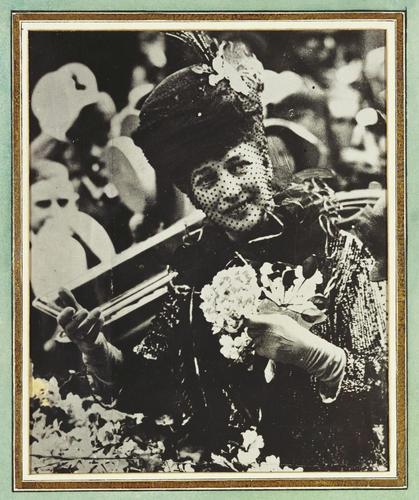 Photograph of Queen Alexandra (1844-1925) on Alexandra Rose Day, 1916