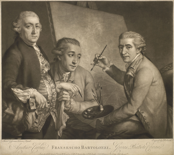 Francesco Bartolozzi with Agostino Carlini and Giovanni Baptista Cipriani