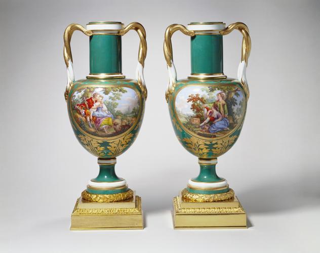 Vase a col cylindrique/Vase a anses tortilles