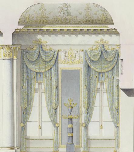 Window wall of the White Hall, Mikhailovsky Palace, St Petersburg