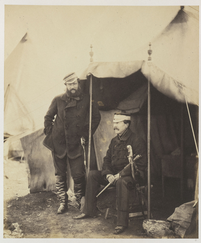 Sir John Campbell and his aide-de-camp Captain Hume