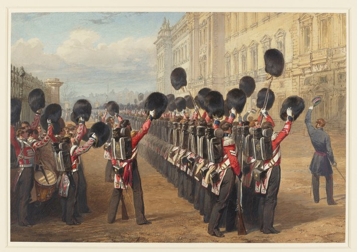 The farewell to the Scots Fusilier Guards at Buckingham Palace