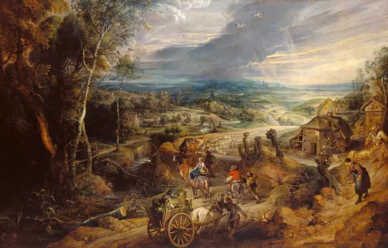 Summer: Peasants Going to Market