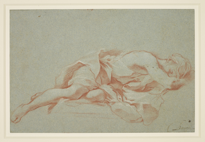 A sleeping figure