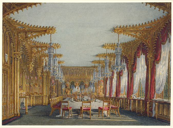 Charles Wild (1781-1835) - Carlton House: The Gothic Dining ...