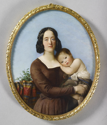 Charlotte Anne, Duchess of Buccleuch (1811-1895) and her daughter Lady Victoria Scott (1844-1938)