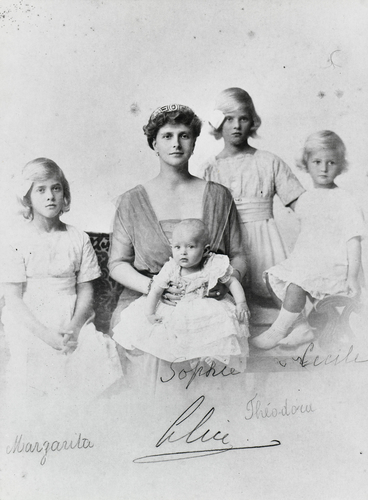 Princess Alice of Battenberg with her four daughters