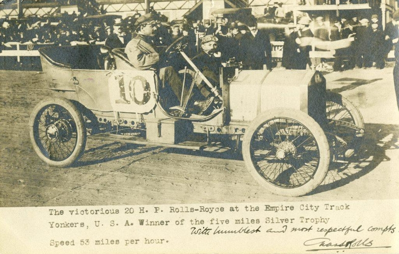 Postcard of a Rolls-Royce