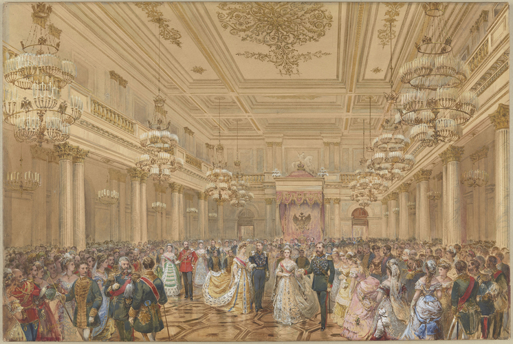 Бал-Полоне в Зимнем дворце, Санкт-Петербург, 23 января 1874