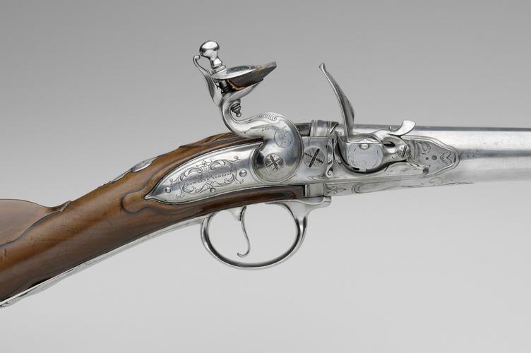 R Rowland : London - Flintlock breech-loading rifle