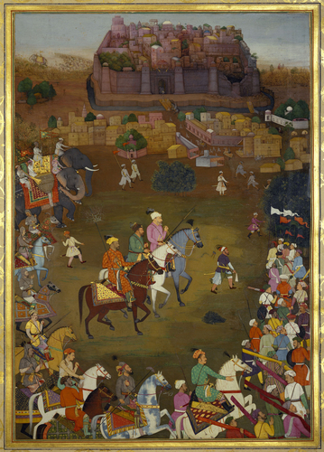 Master: The Padshahnama Item: The Capture of Orchha by imperial forces (October 1635)