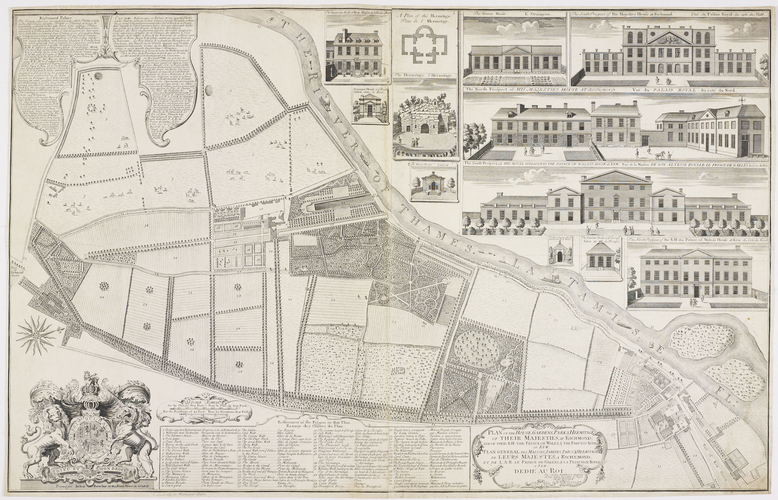 Plan of the House, Gardens, Park & Hermitage of their Majesties, at Richmond