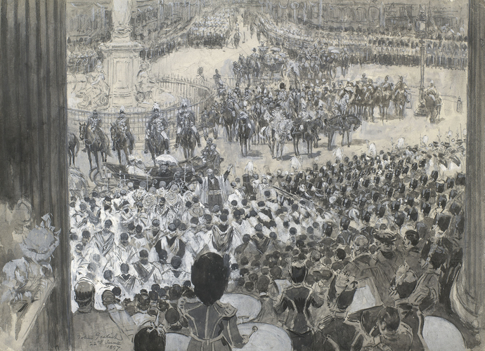The Diamond Jubilee: the Queen at St Paul's Cathedral, 22 June 1897