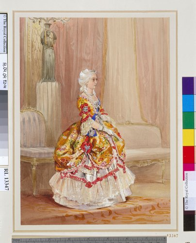 Queen Victoria in costume for the 1745 Fancy Ball, 6 June 1845