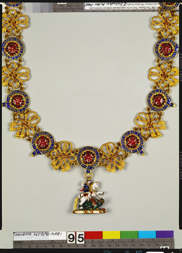Emperor Alexander II of Russia's collar and badge (Great George) of the Order of the Garter