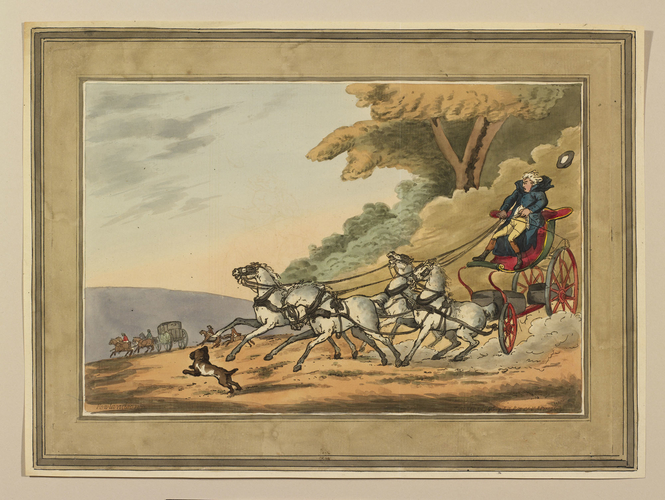 A runaway carriage
