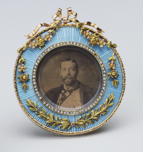 Frame with a photograph of King George V