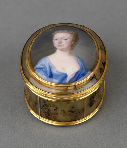 Snuff box with inset miniature of Anne, Princess Royal (1709-1759)