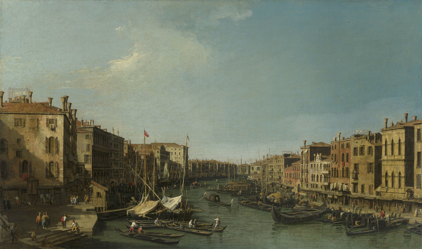 The Grand Canal looking South-West from the Rialto to Ca? Foscari