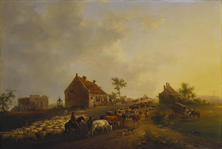 The Farm of 'La Belle Alliance' on the Battlefield of Waterloo