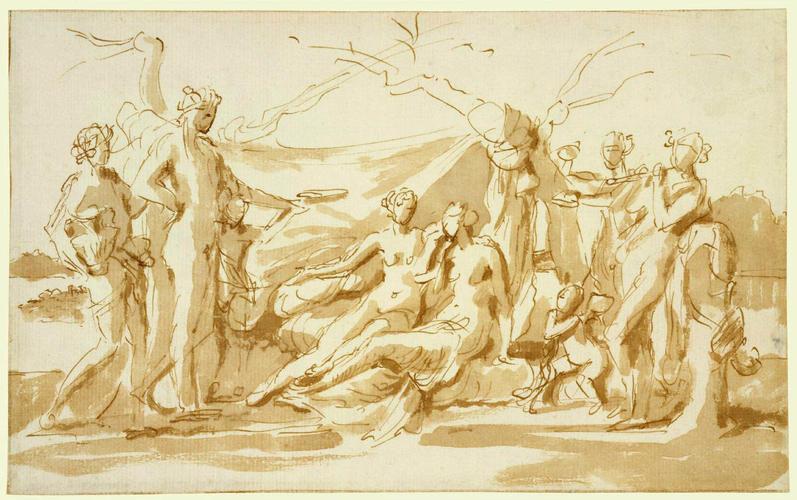 Bacchus discovering Ariadne